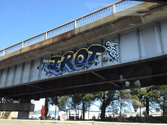 Irot (That_Good_Stuff) Tags: graffiti oakland bridges freeway irot uploaded:by=flickrmobile flickriosapp:filter=nofilter