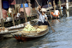19-095 (ndpa / s. lundeen, archivist) Tags: houses homes people woman house color building film home water vegetables hat fruit 35mm buildings thailand canal dock bangkok nick paddle cargo canals thai oar watersedge produce 1970s 1972 paddling 19 1973 strawhat klong dewolf khlong klongs onstilts nickdewolf photographbynickdewolf khlongs builtonstilts reel19