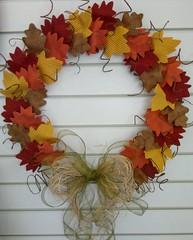 Guirlanda Outono (Ka Comelli) Tags: folhas artesanato guirlanda feltro decoração outono tecido bemvindo patchcolagem