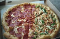 (Emily Savill) Tags: auto food max green film cheese analog 35mm crust pepper reflex stuffed kodak iso pizza hut 400 tc half konica analogue asa ultra pepperoni autoreflex ultramax