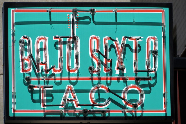 Bajo Sexto Taco neon sign - Nashville