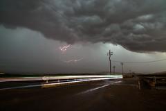 Lightning Light Trail (Sebastian Hobbs) Tags: california road longexposure light storm beautiful rain hail clouds america canon landscape crazy scary long exposure skies ominous country thunderstorm lightning desolate westcoast thunder cloudscape stormchasing goldenstate lighttrail 5dmarkii