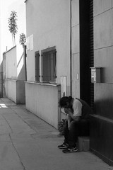 Olympus Mju II - His Last Time in the Work 1 (Kojotisko) Tags: bw streetphotography brno creativecommons streetphoto rodinal fomapan100 mju2 olympusmjuii
