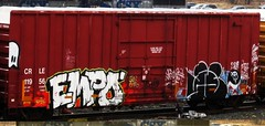 empo - wyse (timetomakethepasta) Tags: empo wyse nekst d30 ba wge creak moniker freight train graffiti boxcar crle