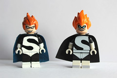 Syndromes - Custom vs Official (TheCampervanTom) Tags: lego disney syndrome custom incredibles