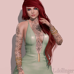 - LOTD #154 (http://www.itdollz.com) Tags: birthday tattoo hair real cosmopolitan skins anniversary gift ama damselfly pinup insol kitja fameshed realevil