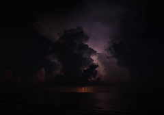 Abe in the Clouds (lightonthewater) Tags: ocean storm gulfofmexico clouds image thunderstorm lightning abrahamlincoln seagrovebeach lightonthewater
