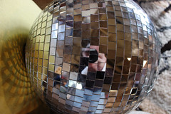 Fragmented Reality (skipmoore) Tags: reflections disco gallery sonoma mirrorball cornerstore