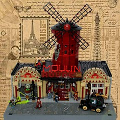 Moulin Rouge (domino39 brickpirate) Tags: paris moulin rouge lego 1889 steampunk domino39
