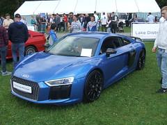 Audi R8 Coupe. (Bennydorm) Tags: auto blue england car automobile outdoor fast german vehicle motor audi exciting motorshow deutsch kendal audir8 crooklands