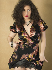 Resistance is Futile (Pennant) Tags: necklace curly satin wrapdress