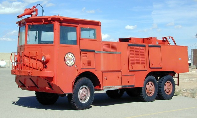 Old airport fire engine