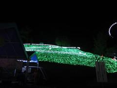 さがみ湖イルミリオン光の動物園を下から見上げるの写真
