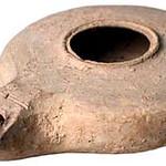 "<b>Oil Lamp</b><br/> Oil Lamp Ceramic, 37 BCE - first century CE Origin: unknown LFAC# 628<a href=""http://farm8.static.flickr.com/7023/6419589161_cf43349321_o.jpg"" title=""High res"">∝</a>"