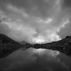 pirineo (Jorge Losada) Tags: lake reflection clouds lago huesca cloudy nubes reflejo pyrenees pirineo aragn ibn nuboso posetsmaladeta jorgelosada