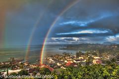 Double Rainbow 3 (Kukui Photography) Tags: hawaii rainbow oahu kaneohe hdr topaz noiseware photomatix cs5 condolanai