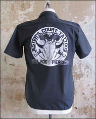Jester's Court work shirt (TeeRexSyndicate) Tags: tattoos jesterscourt workshirt teerex jesterscourttattoos teerexsyndicate