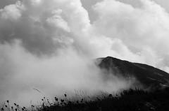 . (Erik Nardone) Tags: light sky bw italy film analog 35mm nuvole pentax k1000 pentaxk1000 roccia montagna ilford abruzzo majella analogic altitudine autaut mammarosa