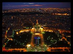 From the Eiffel tower (Anurag Biswas) Tags: paris nightshot eiffeltower cityscapes palaisdechaillot parisnight flickraward parisbirdsview platinumheartaward nikonflickraward nikonflickrawardgold parvisdutrocadro flickraward5
