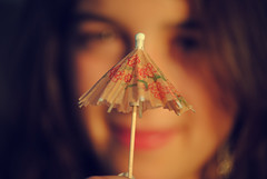 (...cati...) Tags: portrait orange girl umbrella vintage seaside