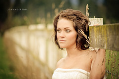 Chris & Sheri married (Jon Anderson|Photography) Tags: pictures wedding portrait woman female fence bride married bokeh pics sony picture marriage beercan alpha 850 a minolta70210mmf4