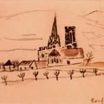"<b>Rouffada</b><br/> Frans Wildenhain ""Rouffada"" Watercolor, n.d. LFAC #485<a href=""http://farm8.static.flickr.com/7023/6466263923_bfd3cfa44c_o.jpg"" title=""High res"">∝</a>"