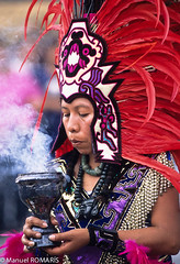 Zcalo, Mxico DF (Manuel ROMARS) Tags: df mask maya aztec smoke magic azteca blackmagic healingceremony manuelromaris