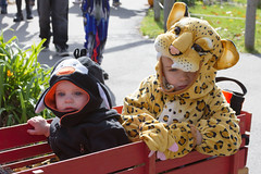Halloween Wagon (Craig Dyni) Tags: boy halloween girl colin toddler booatthezoo sister brother finn madelyn alannah potterparkzoo dyni