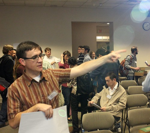 "Craig Willis directing traffic at the Metadata Marathon • <a style=""font-size:0.8em;"" href=""http://www.flickr.com/photos/10729528@N03/6514514391/"" target=""_blank"">View on Flickr</a>"