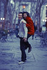 ([ raymond ]) Tags: nyc winter red portrait newyork laughing coat isabel bryantpark