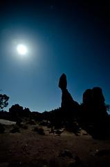 Full Moon (OwenXu) Tags: park light moon field rock star utah long exposure arches full national moab balance 32ratio