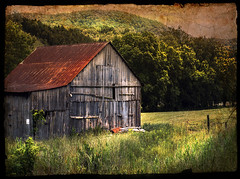 Tennessee Black Barn (h_roach) Tags: black barn rural tennessee country weathered textured impressedbeauty