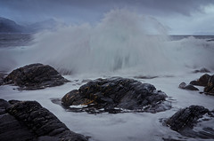 Caught by suprise (The Nature Guy) Tags: sea mountain seascape water norway landscape coast norge nikon rocks meer waves lenses kste giske 18200mmf3