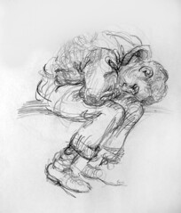 Sleeping Man (artsentinel) Tags: portrait portraiture figuredrawing sketchbookdrawings citypeople portraitdrawing artisticanatomy newyorkcityviews subwaysketches urbansketchers urbansketcher subwaysketcher keithgunderson subwaysketchers