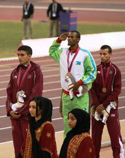 Médaillé dOr ,Ayanleh Souleiman Djiboutian Athlete won Gold Medal in Doha,the Qatari Capital ,20th December 2011.