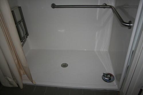 Shower handle on the floor