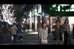 Marunouchi Night Scene (soshiro) Tags: christmas street japan night canon tokyo candid streetphotography illumination   marunouchi   ef135mmf2lusm eos5dmarkii