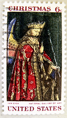 great xmas stamp USA 6c (painting by Jan van Eyck 1390-1441) angel christmas United States of America noel timbre tats-Unis u.s. postage selo natal Estados Unidos sello navidad francobolli natale Jul frimerker Stati Uniti d'America    (stampolina - thanks to all for sending stamps!! :)) Tags: christmas usa saint natal angel postes weihnachten navidad unitedstates stamps religion saints noel stamp holy angels jul natale tem   postzegel kerstmis selo bolli boi joulu sello sellos briefmarken kaldos pulu frimrken briefmarke   vnoce francobollo selos timbres frimrker  silentnight  francobolli bollo boe  zegels  zegel znaczki markica  ziemassvtki ging   perangko frimerker pullar timbru      postapulu  blyegek  antspaudai raztka  narodzenie