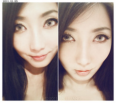 2011.12.25 - 1 (Alli Jiang) Tags: cameraphone portrait selfportrait me girl face self asian eyes phone eyelashes chinese makeup cellphone cell asiangirl 2011 armlength chinesegirl circlelens colorcontactlens allijiang fauxlashes camera260
