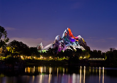Expedition Everest AT NIGHT!!!!!!!