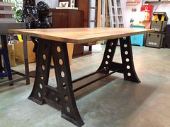 A-trestle dining table (Like That One) Tags: urban loft vintage singapore raw industrial hip tough diningtable edgy