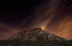 Cabezo de las Cortinas (Explore Dec 30, 2011 #188 ) (martin zalba) Tags: night stars landscape star noche spain paisaje estrellas estrella navarra bardenas cabezo
