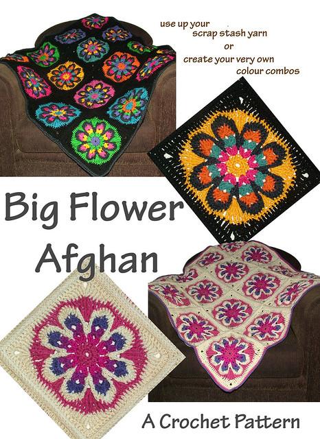 Ravelry: Big Flower Afghan pattern by Renate Kirkpatrick