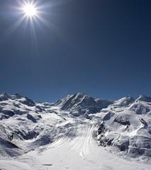 LK0F4751 (ursblick) Tags: blue winter white snow mountains cold ice schweiz high berge gornergrat zermatt blau weiss wallis valais