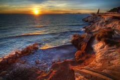 Wild Corniche (marcovdz) Tags: sunset sea sun mer seascape france seaweed coast soleil marseille rocks waves cte provence paysage vagues hdr coucherdesoleil rochers 3xp posidonia roucasblanc posidonie cornichejfkennedy