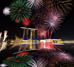 Singapore firework - A tribute to Zoompict (Wang Guowen (gw.wang)) Tags: lighting longexposure reflection nikon singapore cityscape nightshot firework tribute countdown 2012 marinabay greatphotographers cs5 singaporeflyer marinabaysands flickraward zoompict d5100 flickrunitedaward artsciencemuseum flickrawardgallery blinkagain gwwang wwwon9cloudcom