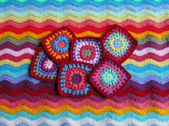 Ripple and happy squares (Crafty Valley) Tags: ripple crochet rippleblanket funkyripple 200happysquares