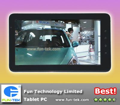 Best FunPad 10 inch A9 Amlogic AML8726-M Tablet PC MID Android 2.2 WiFi 3G Flash 10.3 HDMI Bluetooth 3D Games
