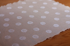 flower print (noodleheadsews) Tags: blog linen fabric stamping handprinted blockprinting