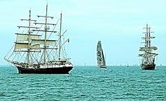 THREE SAILBOATS (conespider) Tags: sea water boats nikon sail tallships